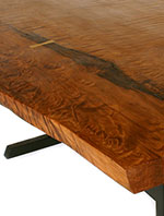 redwood slab dining table