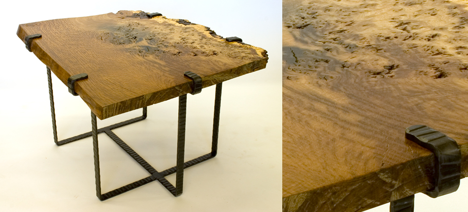 oak burl table